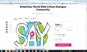 Indiegogo GlobalSay eskaaret
